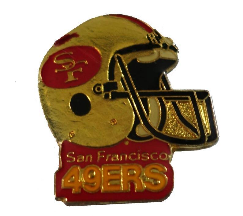 94c606c2 SAN FRANCISCO 49ERS Helmet vintage enamel pin lapel badge brooch gift NFL  Football