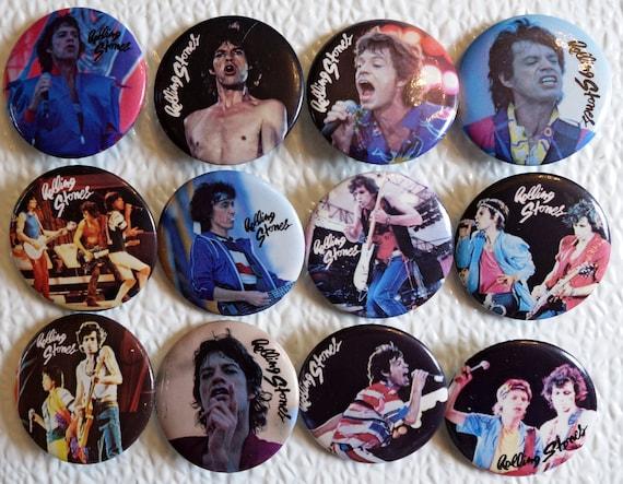 Vintage Keith Richards Button Set