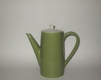 Vintage 1960s Green Tall Coffee Pot