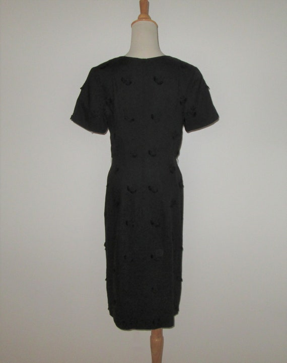 Vintage 1950s Black Moygashel Irish Linen Dress W… - image 4