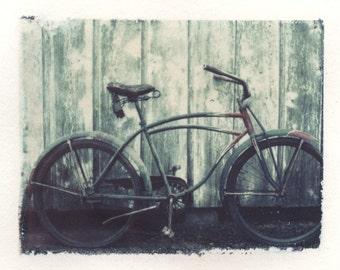 Polaroid transfer Bike original. Bicycle, bike home decor, bike fine art photography, Polaroid transfer, Polaroid transfers, vintage bicycle