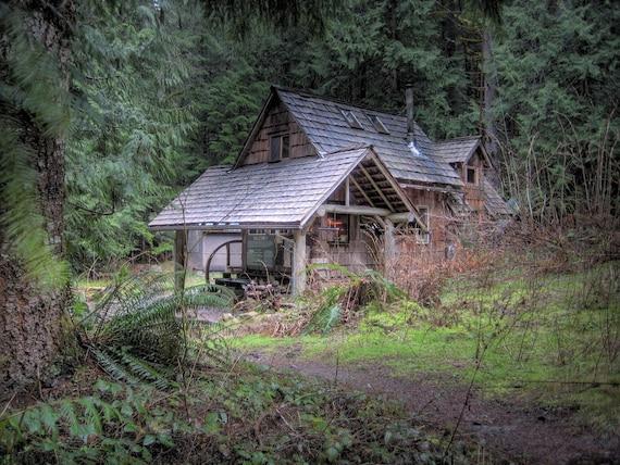 Hutte Im Wald Kleines Haus Blockhutte Hutte Wohnkultur Etsy