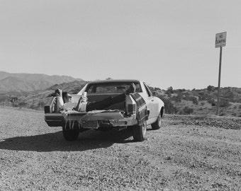 desert highway scholar b/w print
