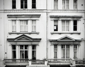 London Flat 12x18 Unmounted Black & White Print