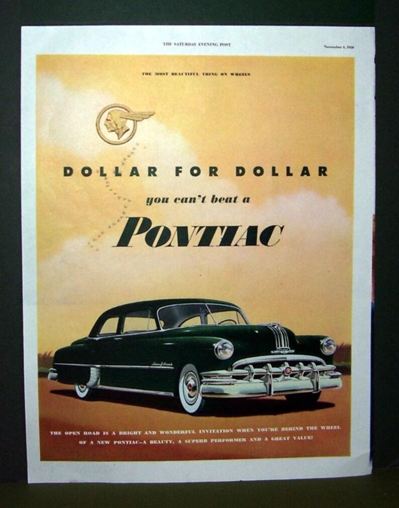 Original Print Ad 1946 New Pontiac 2 Door Sedan Gm Silver Streaks Auto Advertising-print