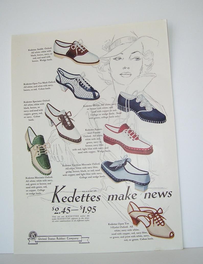 06d4d79826353 1939 Ladies Kedettes Shoe Ad Double Ad Forstmann Woolens, Ladies Resort  Dresses