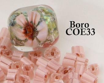 Boro Peach 5 petal Complex Flower Murrini - COE 33