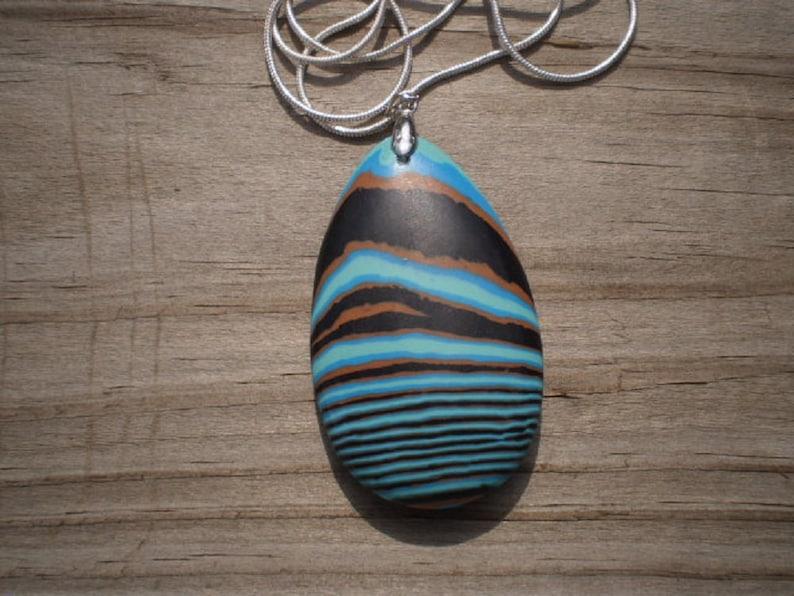Rainbow Calsilica Pendant Necklace