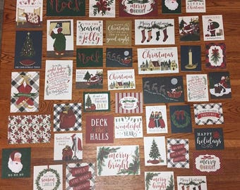 Echo Park Twas the Night Before Christmas  project life cards - set of 45 cards