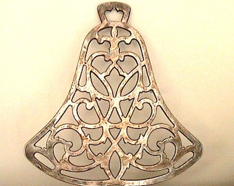 Vintage Silver -  Bell Shaped Trivet - by International Silver Co