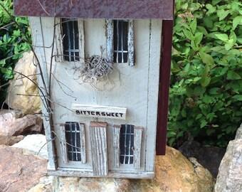 Birdhouse - named Bittersweet - Handmade