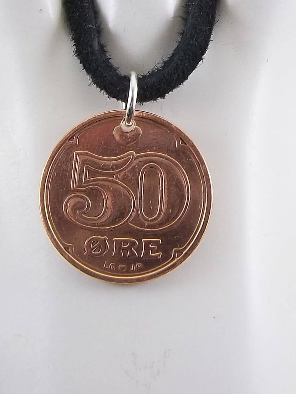 Pièce De Danemark De Pièce De Monnaie 50 De Minerai Mens