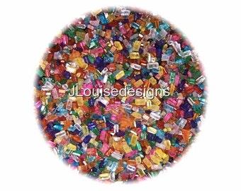 Edible Sprinkles, Rainbow Sugar Crystals 2oz.Cake, Cookie, Sprinkles Confetti Rimming Sugar Decorations