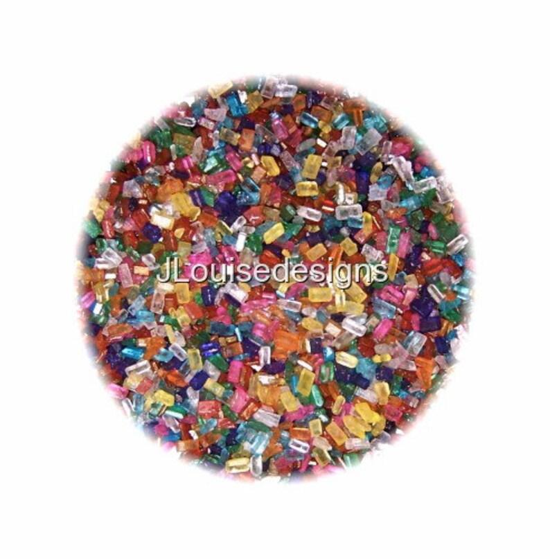 Edible Sprinkles Rainbow Sugar Crystals 2oz.Cake Cookie image 1
