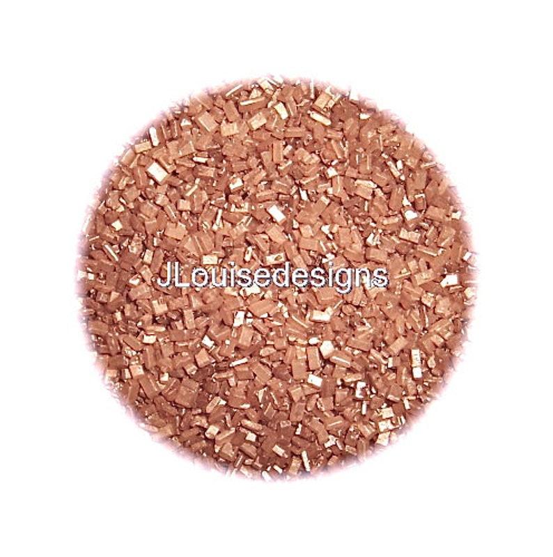 Rose Gold Sugar Crystals, Edible Sprinkles,Edible Confetti,Rimming Sugar,  Cake Pop Cookie Decorations 2 oz