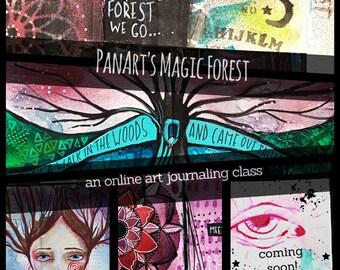 PanArt's Magic Forest - An Online Art Journaling Class