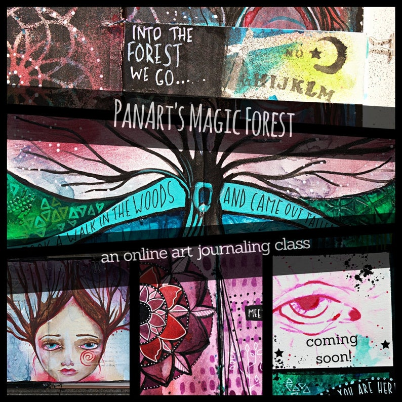 PanArt's Magic Forest  An Online Art Journaling Class image 0