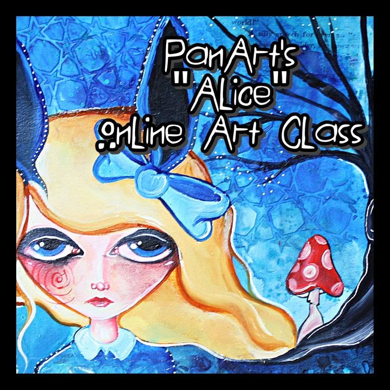 PanArt  Alice Online Art Journaling Class Style Development image 0