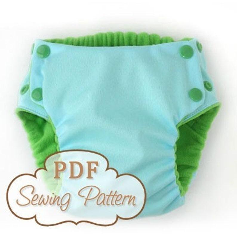 Trimsies Diaper pattern  Cloth diaper printable PDF sewing image 0