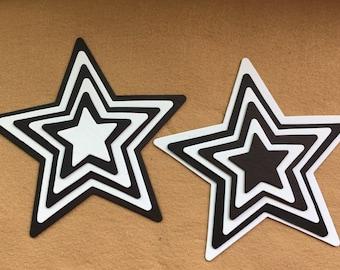 Star Chipboards in 6 Sizes DIY Craft Kits-PartyDecor-Graduation Decor-Super Hero-School Craft Kits-DIY Star Decorations Kits-Wedding Signs