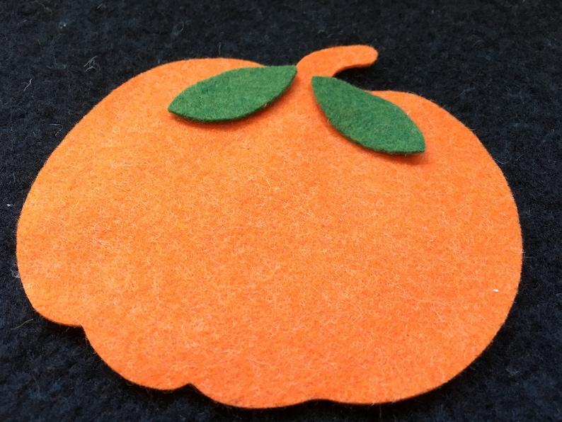 Wool Felt Pumpkins-Autumn Decorations-Applique-Penny image 0