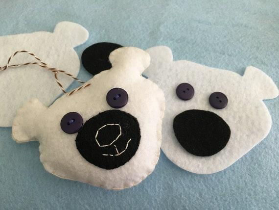 Felt Polar Bear DIY Holiday Crafts Birthday Party Craft