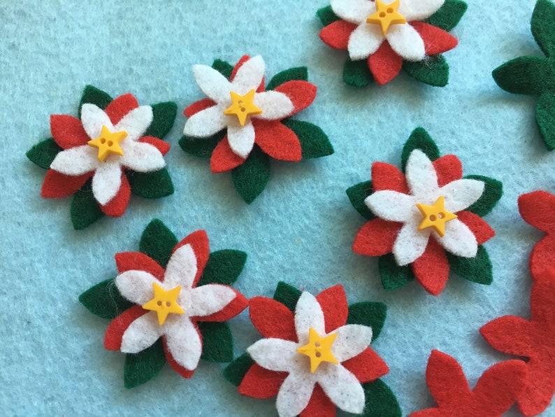 Christmas Flowers-Planner Clip Bookmark-DIY Felt Poinsettia image 0