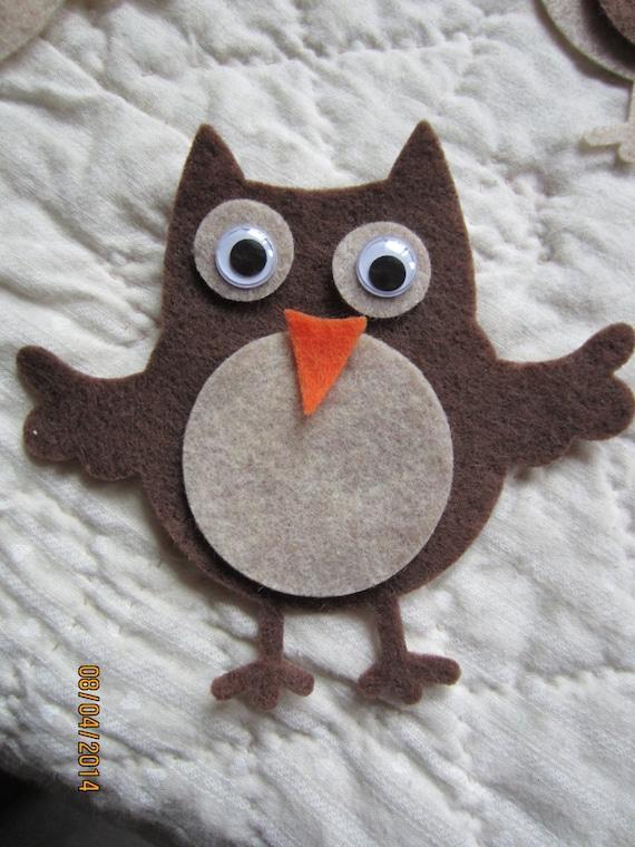 Felt Owl Kit DIY Fall Crafts Birthday Party Craft Autumn