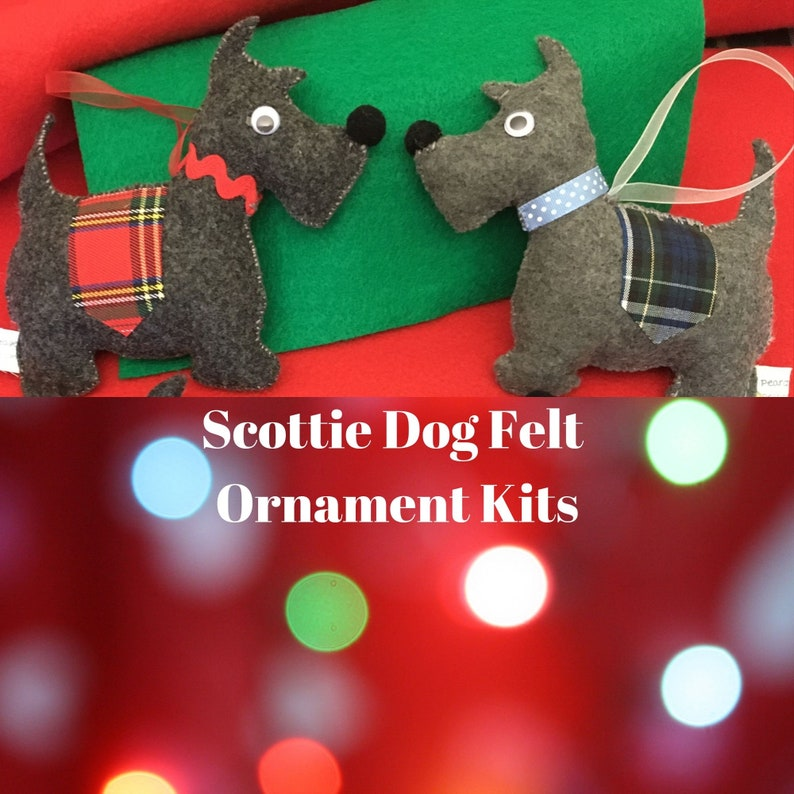 DIY Felt Scottie Dog Ornaments Kit-Maker Holiday image 0