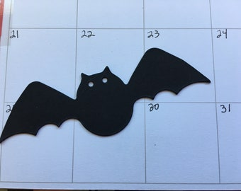 Black Bat Card-stock Stickers-Bat Stickers-Halloween Stickers-Spooky Cards-Party Favors-Planner Pages-Agendas-Scrapbooks-Bible Journals