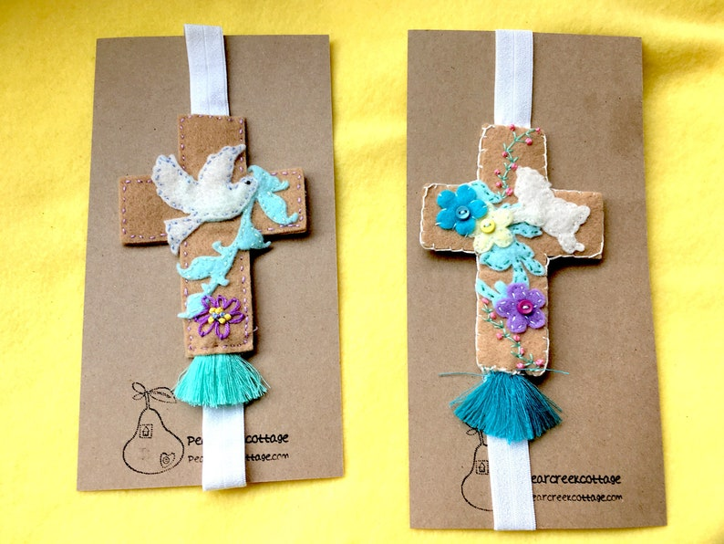 Planner Bands-Cross Embroidered-Bible Bookmark-Journal image 0