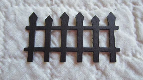 Items Similar To Wrought Iron Picket Fence Chipboard Fence