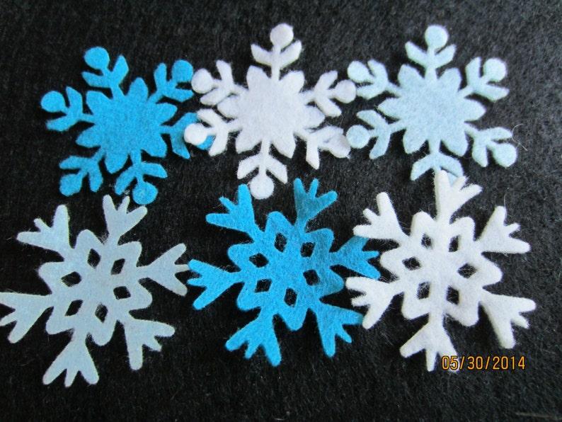 Fiocchi Di Neve Di Carta Fai Da Te : Fiocchi di neve blu congelati ispirato a piccole etsy