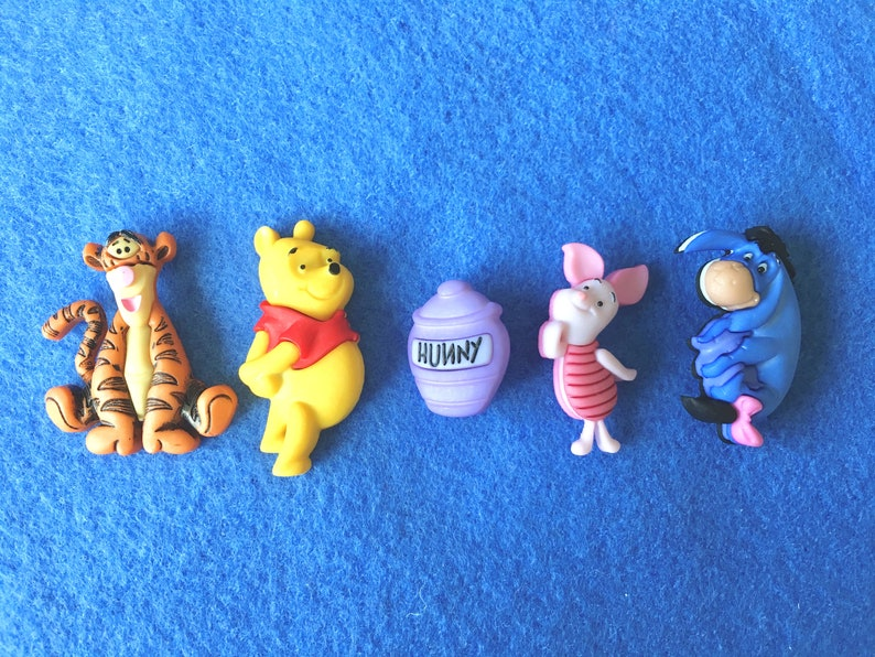Winnie The Pooh & Friends Buttons-Cartoon Character image 0