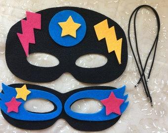 Felt Mask Kit-DIY Mask Kit-Kids Crafts-Party Decoration-Dress Up Play-Quiet Book-Halloween Mask-Super Hero-Make Own Super Hero Mask-Applique