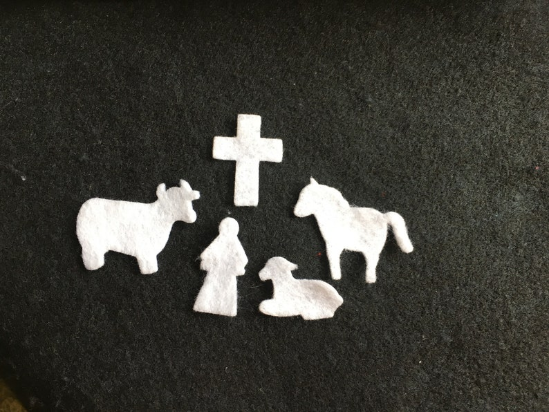 Felt Nativity Shapes for Wax Dipping-DIY Kits for Independent image 0