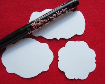 Dry Erase Stickers-Black Fine Tip Chalk Marker-Canning Label Kit-DIY Dry Erase Vinyl Sticker Kit-Home Organization-Storage Stickers-Reusable