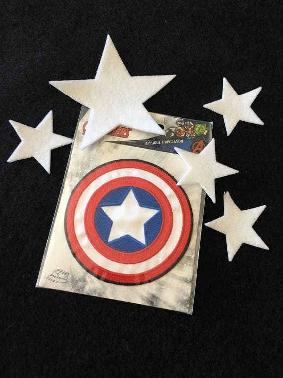 """Captain America Shield Iron On Patch 3/"""" Free Ship by Envelope Mail"""