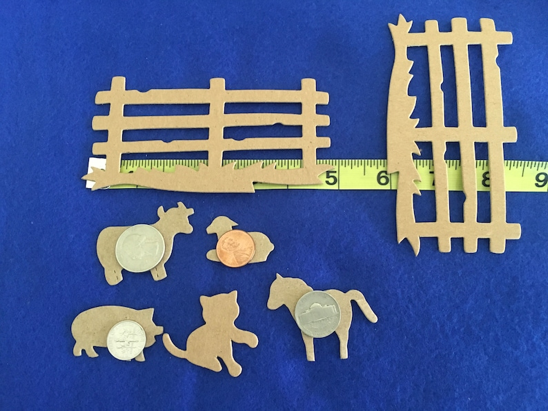Farm Yard Chipboard Cutouts-Barn-Farm Animals-Die Cuts-Party Decor-Birthday Crafts-Planner Accessories-Cupcake Toppers-Card Making-Toppers