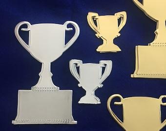 Trophy Stickers-Gold & Silver Trophies-World Cup Trophy-Achievement Award Sticker-Winner-Design Own Trophy Stickers-First Place Stickers