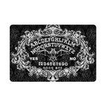Baroque Bat Ouija Board door mat