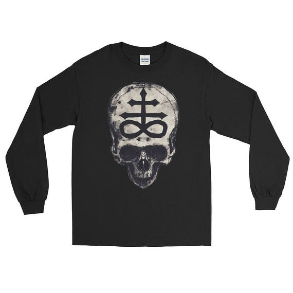 Skull with Leviathan Cross Long Sleeve T-Shirt