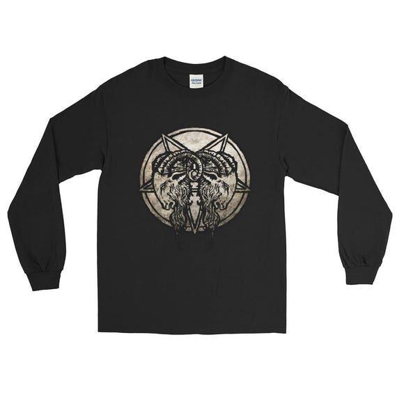 Baphomet Goat Head Long Sleeve T-Shirt