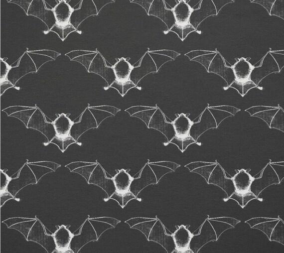 "Vampire Bat fabric swatch 9""x9"""