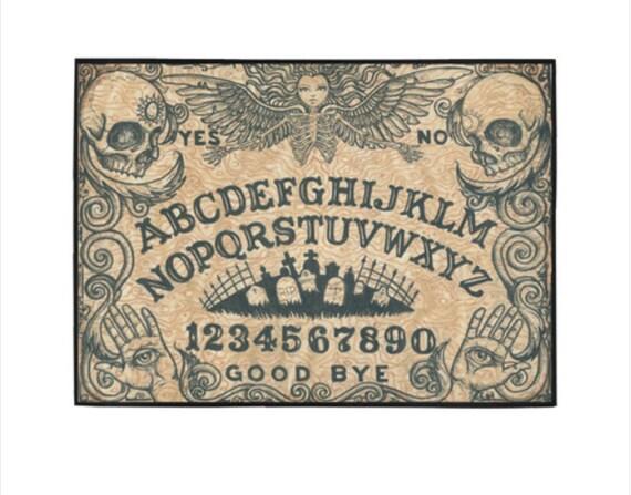 Ouija Board Area Rug Beige