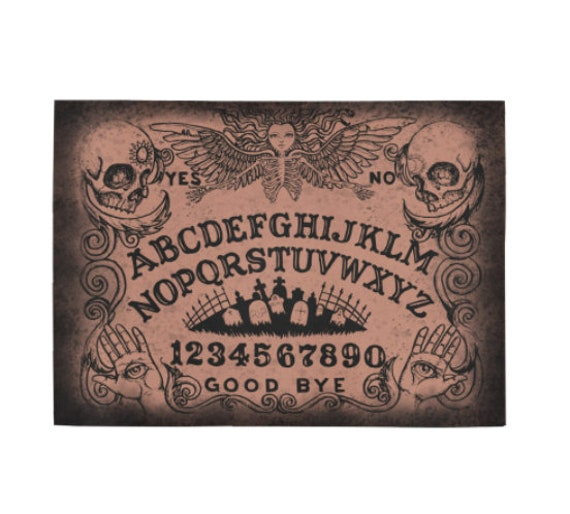 Ouija Board Brown Area Rug