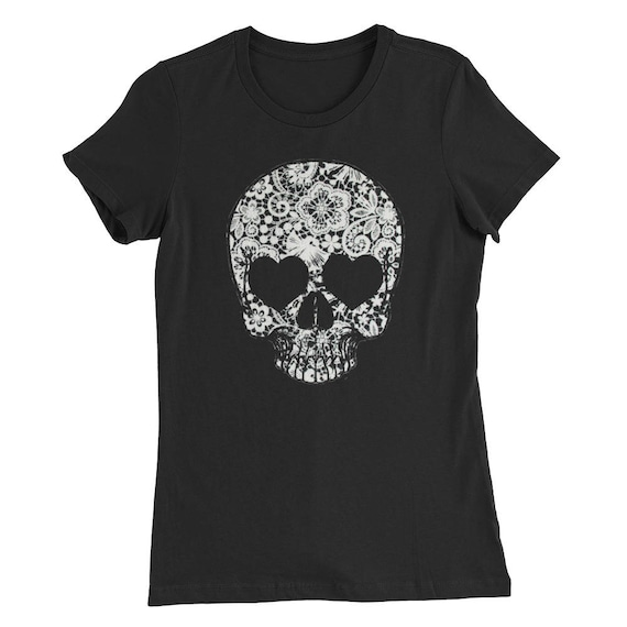 Lace Skull Women's Slim Fit T-Shirt