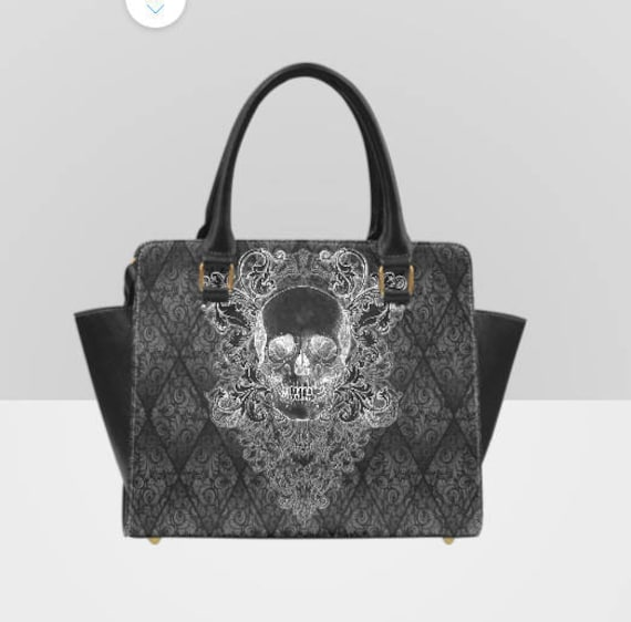 Baroque Skull Embroidered Tarot BagPouch