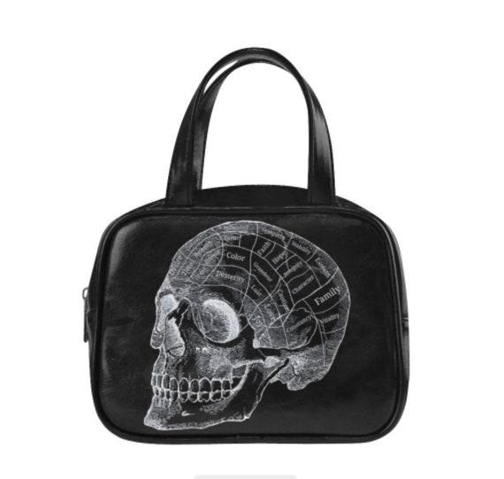 Phrenology Skull Handbag