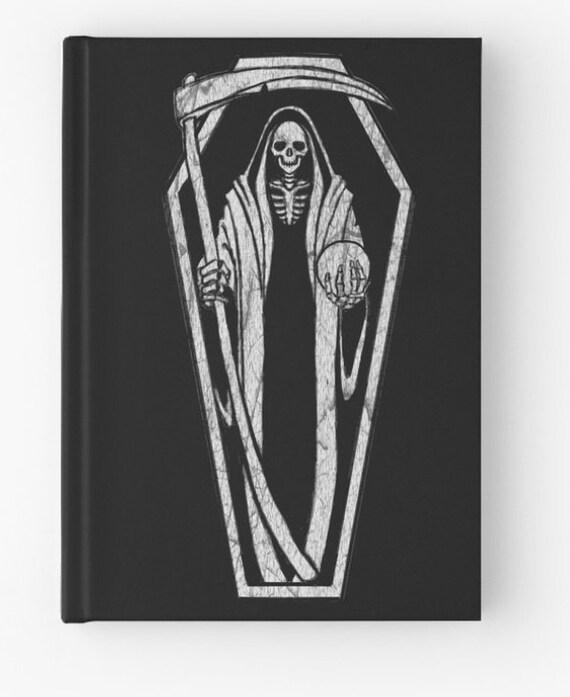 Santa Muerte Reaper spell book, journal, sketchbook